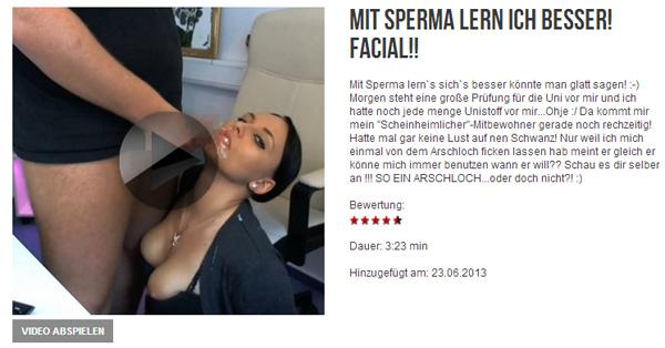 Mit Sperma lern ich BESSER!