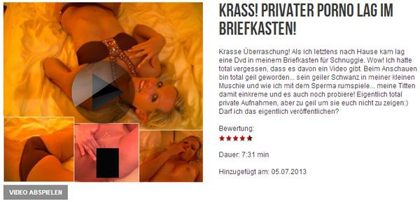 KRASS! PRIVATER Porno lag im Briefkasten!