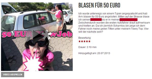 Blasen für 50 Euro