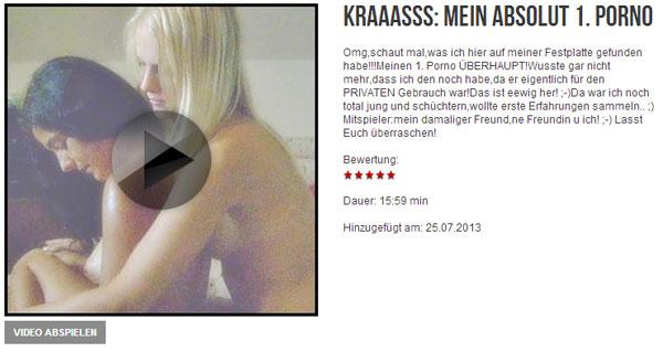 Kraaasss: Mein ABSOLUT 1. Porno