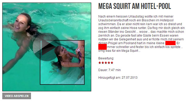 MEGA Squirt am Hotel-Pool