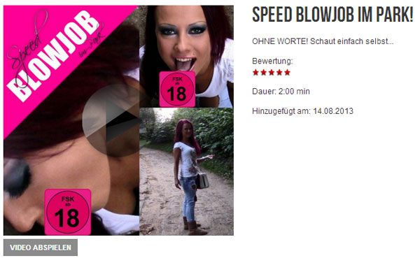 Speed BLOWJOB im Park!