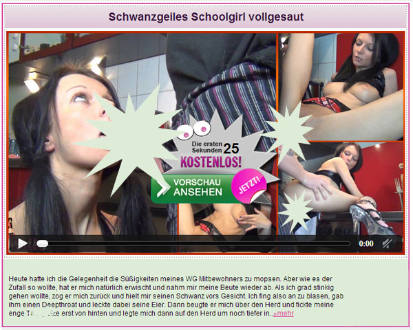 Schwanzgeiles Schoolgirl vollgesaut