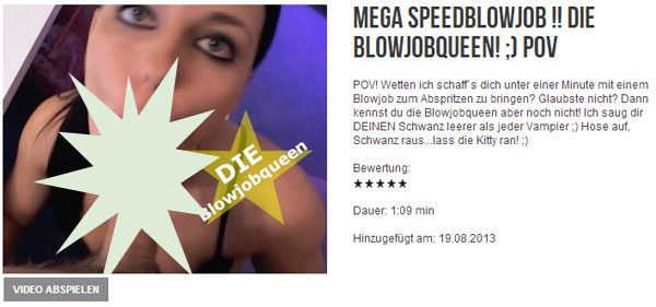 MEGA SPEEDBLOWJOB !! Die Blowjobqueen! ;) POV