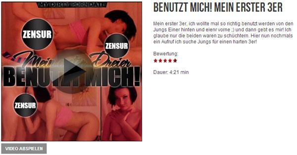 BENUTZT MICH! MEIN ERSTER 3ER