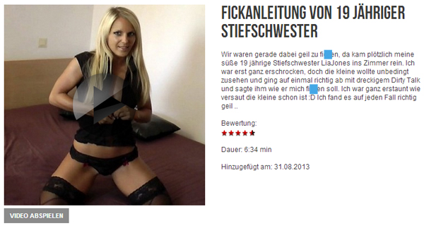 F**kanleitung von 19 jähriger Stiefschwester