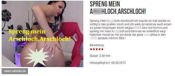 Kitty-Cat: Spreng mein a**c**och,arschloch!