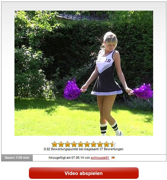 schnuggie91: Kleine Cheerleaderin anal benutzt und reingespritzt!
